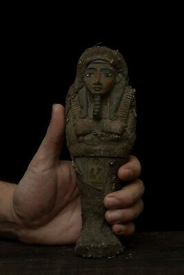 EGYPT STATUE EGYPTIAN Antique KING TUT Shabti Ushabti Mummy Carved STONE BC #66