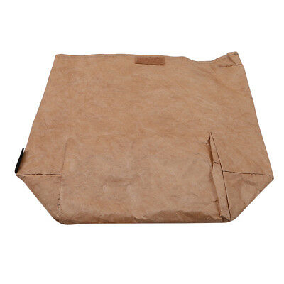 Retro Style Brown Paper Bag School Lunch Bag Reusable Insulated Bag YO