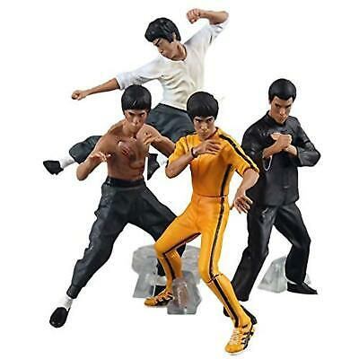 Yunt Action Figure Collections, 4pcs/Set Bruce Lee Kung Fu Action Figures Collec