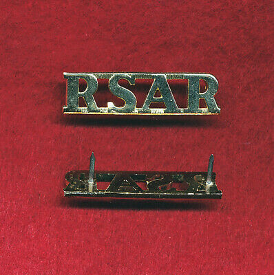 RSAR Shoulder Title (x1) Militaria
