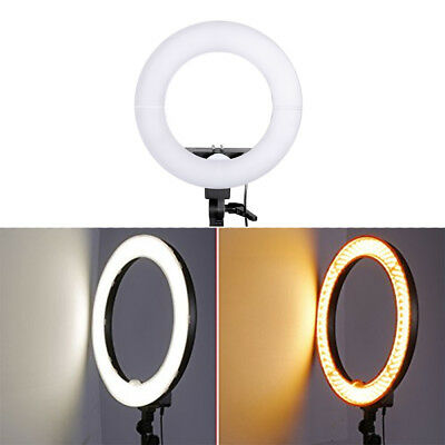 """12"""" Dimmable Continuous Lighting Ring Light Video Photography w/ Bag 5500K"""