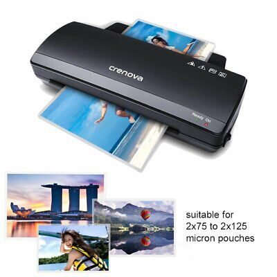 Crenova Laminator A4 Photo Hot Cold  Laminating Machine 250mm/min Fast Speed