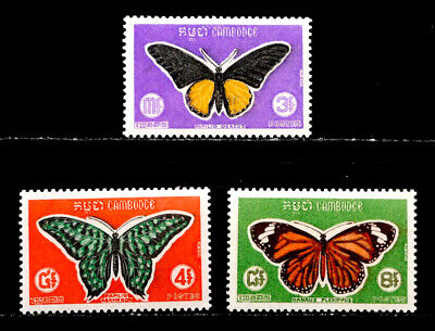 Cambodia: 1969 Stamp Collection Mint Never Hinged Set Scott #210-12