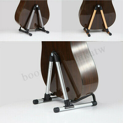 Folding Portable Electric Acoustic Bass Guitar Stand Floor Rack Holder Aluminum