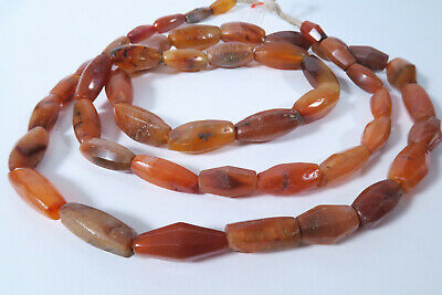 Strang Antike Achatperlen Cambay 122cm AI06 Old Agate Stone trade beads Afrozip