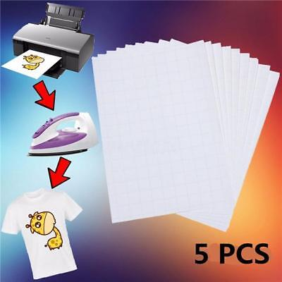 Fabrics T-Shirt A4 Transfer Paper Iron On Heat Press Inkjet Prints 10Pcs JD
