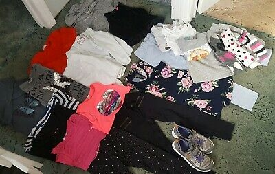 Big Girls Bundle 6-8 Years approx20 items plus Clarks trainers 1G