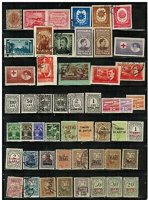 Lot of Romania Old Stamps Used/MH/MNH