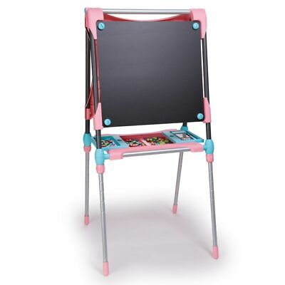 Smoby Children Kid Adjustable Double Easel Creative Drawing Board Pink 410203