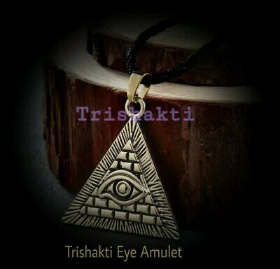 Haunted Magickal Eye of RA amulet cloaked n the powers of the Ancient Gods