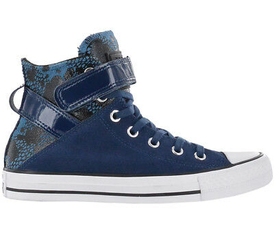 02d26bdec644 Converse Chucks all Star Ct Brea Hi Night Leather Women s Shoes Blue  Sneaker New