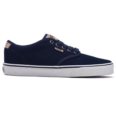 Vans Atwood Deluxe Shoes Men s Leather Sneakers Blue Gym Shoe New  VN000XB2K6T d992620135