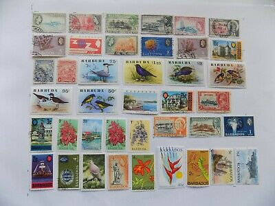 BARBADO-BARBUDA-Great Britain& Col. of stamps off paper-2-14