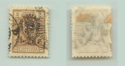 Lithuania 1926 SC B30 used wmk 147 . rta245