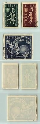 Lithuania 1939 SC B52-B54 used . d7546
