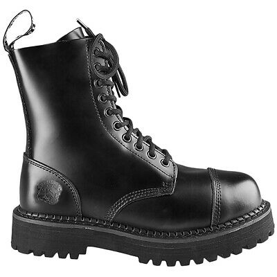 Grinders Bulldog Leather Steel Toe Lace-Up Ankle Mens Boots
