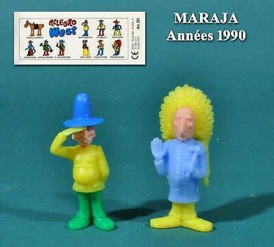 Maraja années 1990, 2 figurines indiens grotesques + 1 BPZ