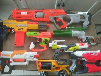 Lot of 8 Used Nerf Guns (Different Kinds)