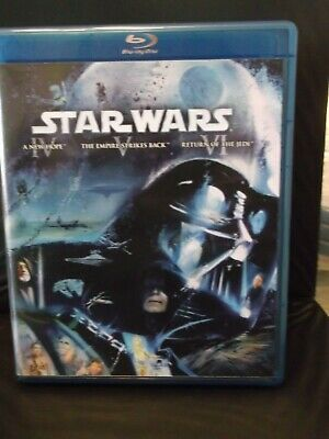 Blu-Ray 3 Disc Set-Star Wars-A New Hope,The Empire Strikes Back & Return of Jedi