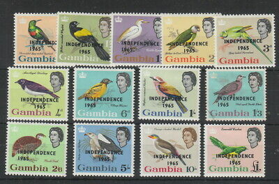 Gambia 1965 Independence Set Birds , SG 215 - 227