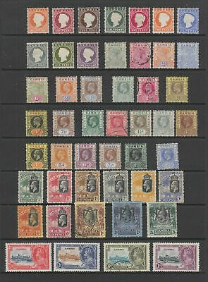 Gambia QV - KGV collection, MH or fine used , 48 stamps
