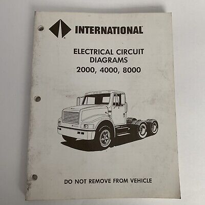 international truck navistar electrical circuit wiring diagramsinternational truck electrical circuit diagrams manual 2000, 4000, 8000 series