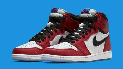 7cf2258fba6 Nike Air Jordan 1 Retro High OG Origin Story (555088 602) Sz 11 Spider