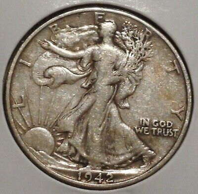 Walking Liberty Half - 1942-D - Overstock Sale! - $1 Unlimited Shipping-977
