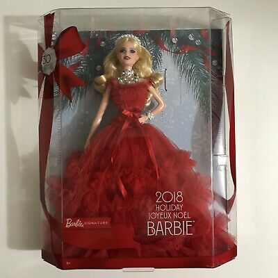 Barbie 2018 Holiday Signature Collector Doll 30th Anniversary Blonde NIB