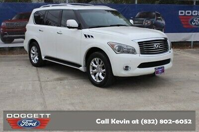 2013 QX56 -- 2013 INFINITI QX56, Moonlight White with 84,296 Miles available now!