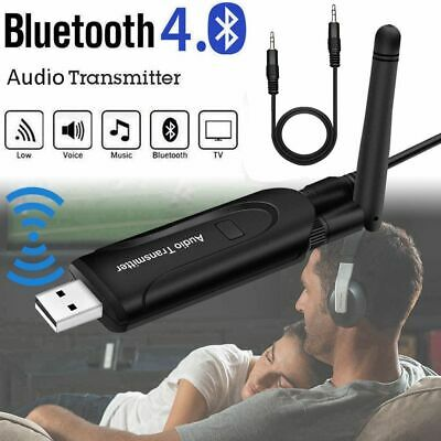 Wireless Bluetooth Transmitter A2DP 3.5mm Audio Music Adapter for TV DVD PC P4Z8