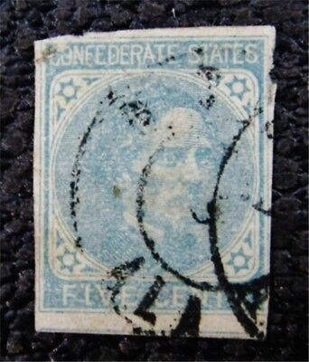 nystamps US CSA Confederate Stamp # 7 Used $20