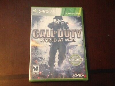 Call of Duty: World at War Microsoft Xbox 360 New Factory Sealed COD Video Game