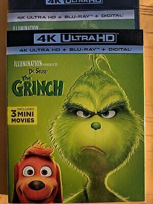 NEW 2018 The Grinch 4k/UHD ULTRA HD & Blu-ray disc NO DIGITAL Kids Cartoon movie