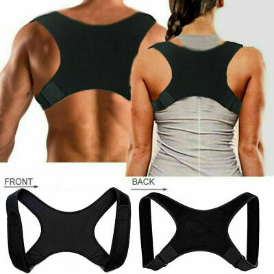 Posture Corrector Shoulder Back Neck Brace Slouching Clavicle Support Men Women