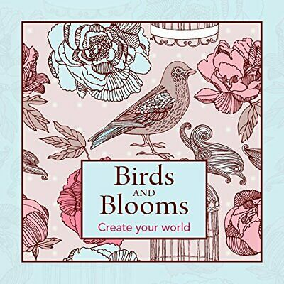 Colouring Book: Birds and Blooms (Colouring in Books)-New Holland Publishers