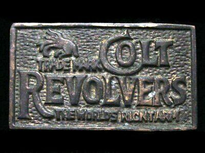 ID17154 GREAT 1970s ***COLT REVOLVERS*** SOLID BRASS FIREARMS BUCKLE