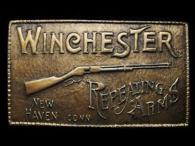 MA11126 VINTAGE 1970s ***WINCHESTER*** REPEATING ARMS GUN RIFLE BELT BUCKLE