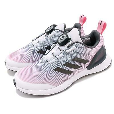 info for 48ae8 feb4f adidas RapidaRun X BOA K White Pink Kid Junior Preschool Running Shoes  DB2521