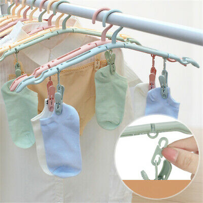 Folding Clothes Rack Portable Airproof Clothes Clip Clothes Hanger Supplies BS