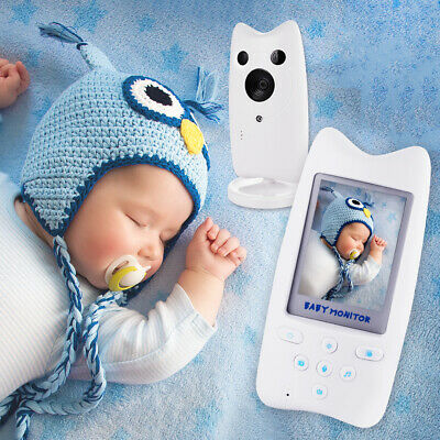 """2.4GHz Wireless Video 2.4"""" Color LCD Audio Talk Night Vision Baby Monitor BB038"""