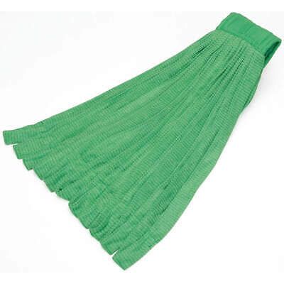 ABILITY ONE Mop Head,Microfiber,Tube Style,Green, 7920-01-660-1490
