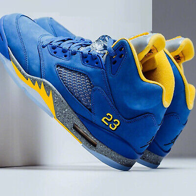 Nike Air Jordan 5 Laney JSP V Varsity Royal Maize Blue Men Women Kids GS Pick 1