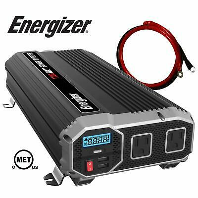 ENERGIZER 12V Power Inverter Dual AC Outlets Automotive Back Up Power Supply NEW