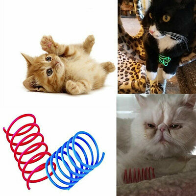 10Pcs Funny Kitten Cat Playing Toy Bright Color Springs Pet Supplies