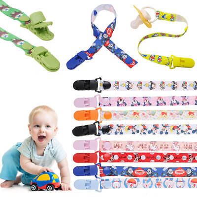 Infant Baby Anti-lost Clip Holder Dummy Pacifier Soother Nipple Strap Chain New