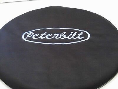 Semi Truck Fuel Tank Covers Peterbilt With Blue  Letters Set Of 2 Vinyl To -60