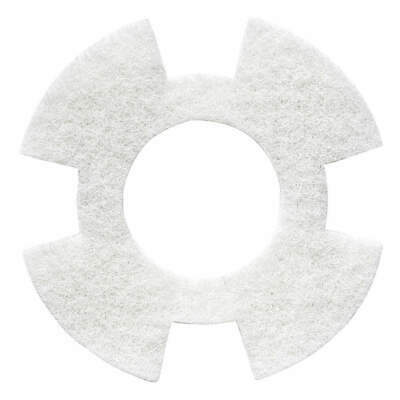 "I-MOP Polyester Fiber Cleaning Pad,White,9"" Pad,Trapezoid,PK10, 1234347, White"