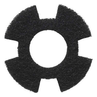 "I-MOP Polyester Fiber Stripping Pad,Blk,9"" Pad,Trapezoid,PK10, 1234344, Black"