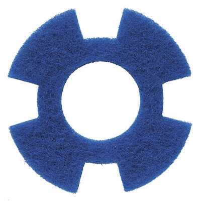 "I-MOP Polyester Fiber Cleaning Pad,Blue,9"" Pad,Trapezoid,PK10, 1234350, Blue"
